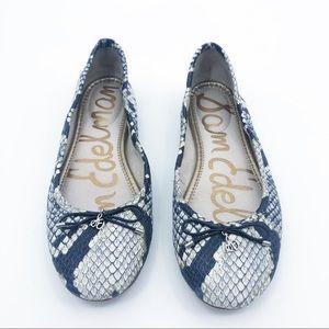 Sam Edelman Felicia snake print leather flats
